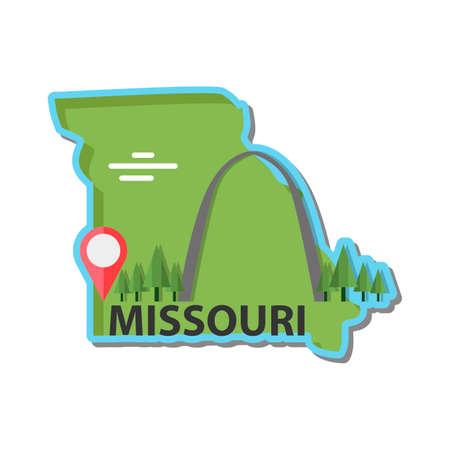 missouri: Map of missouri state