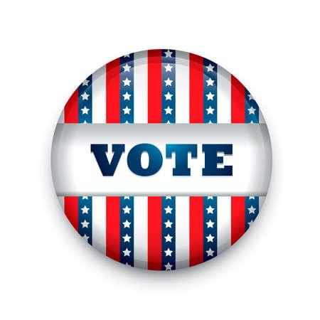 vote button: USA vote button badge