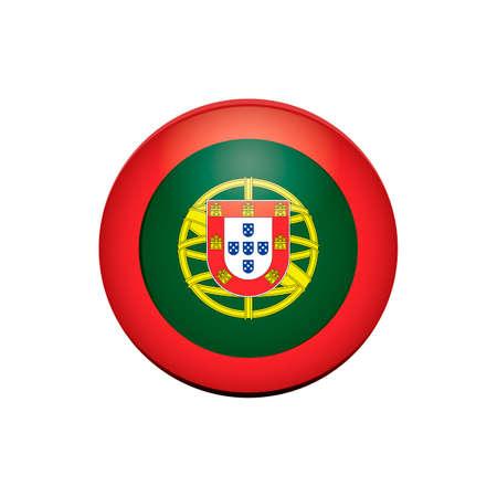 portugal: Portugal label Illustration