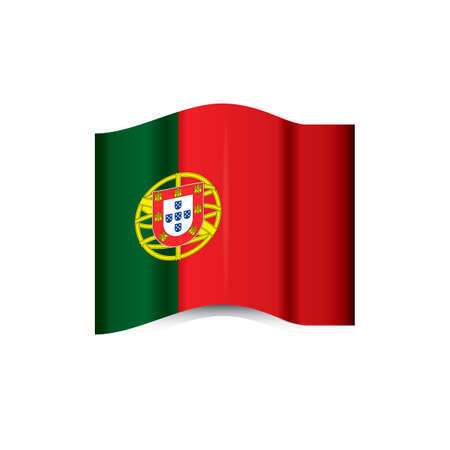 portugal: Portugal flag Illustration