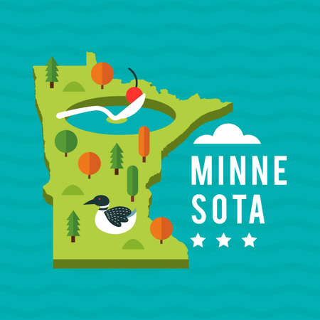in common: Map of minnesota state