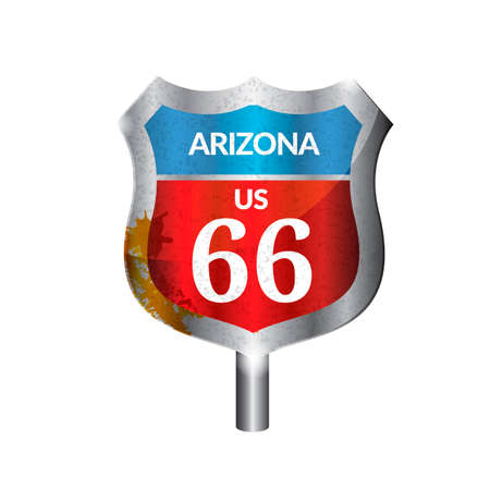 signboard: Arizona route signboard Illustration
