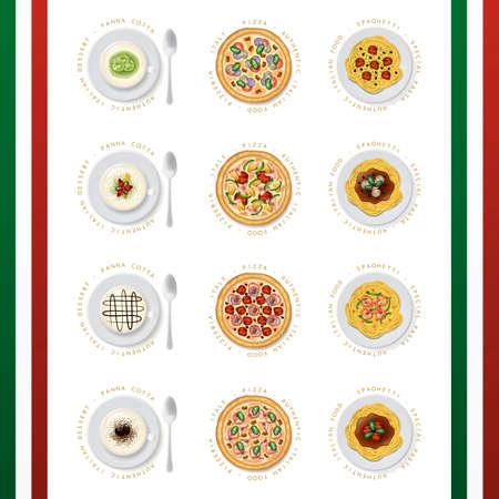 binge: Collection of italian food