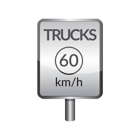limit: Trucks speed limit 60 signboard