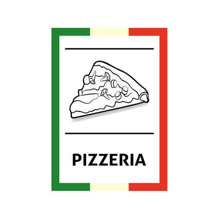 pizzeria label: Pizzeria label Illustration