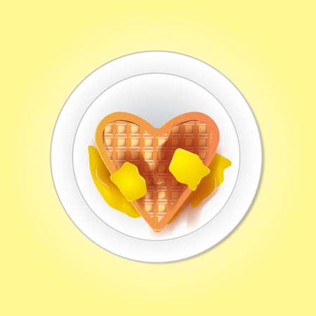 crisp: Belgium heart shaped waffle