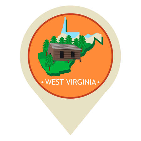 lodge: Map pointer with west virginia state