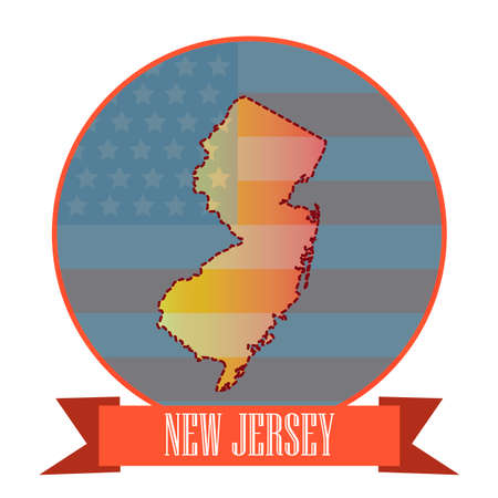 new jersey: Map of new jersey state