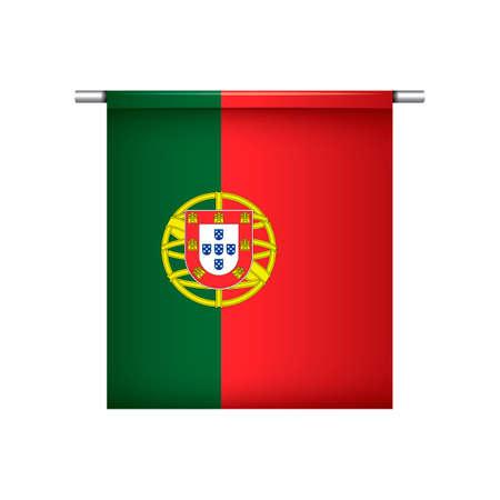 drapeau portugal: Portugal drapeau fanion pendaison Illustration