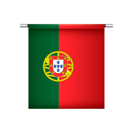 pennant: Portugal flag hanging pennant Illustration