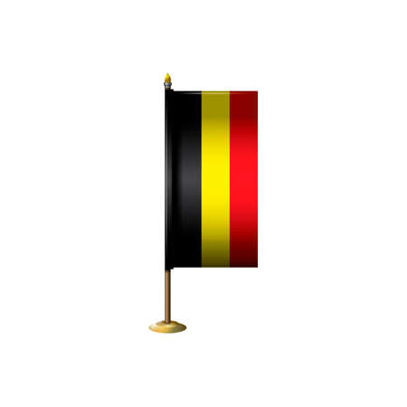 belgium: Belgium flag with stand