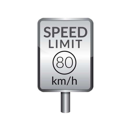 limit: Speed limit 80 signboard
