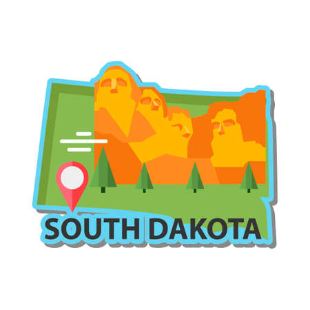 heros: Map of south dakota state