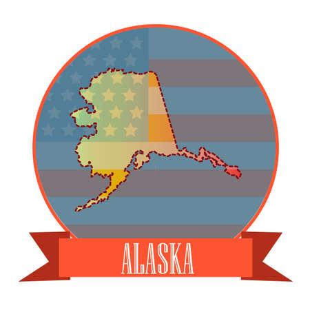 alaska: Map of alaska state