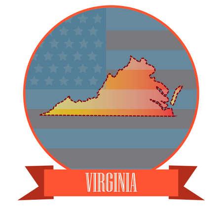 virginia: Map of virginia state Illustration