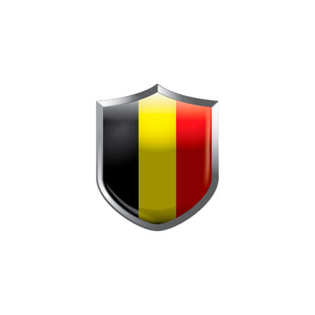 belgium flag: Belgium flag shield