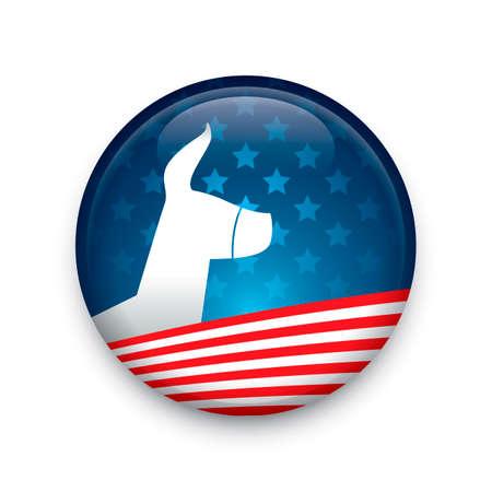 democratic: Democratic party button badge