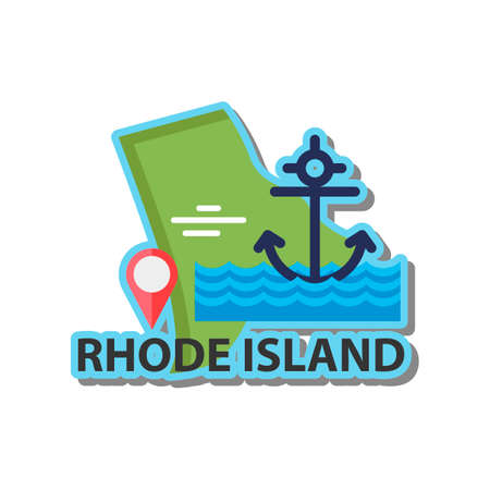 island state: Map of rhode island state