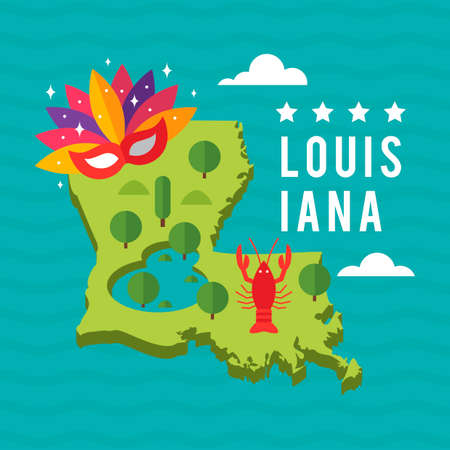 louisiana state: Map of louisiana state