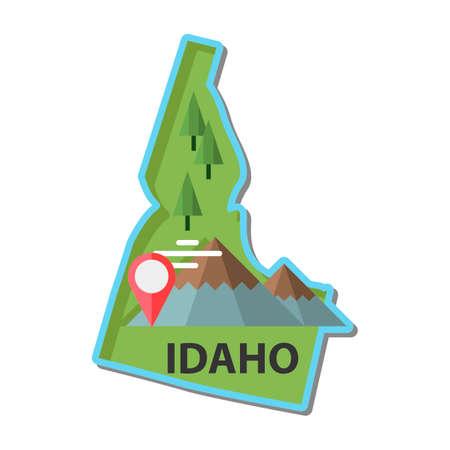 idaho: Map of idaho state