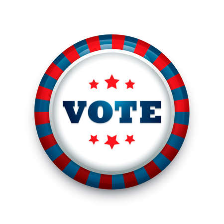 vote: USA vote button badge