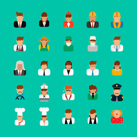 various: Collection of people and occupations Illustration