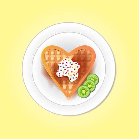 waffle: Belgium heart shaped waffle