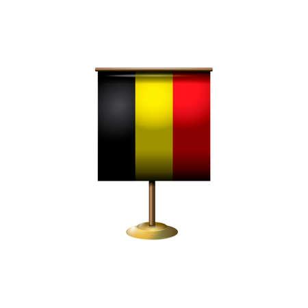 belgium flag: Belgium flag with stand