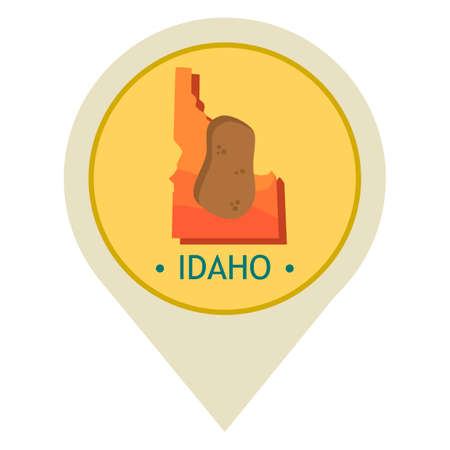 map pointer: Map pointer with idaho state