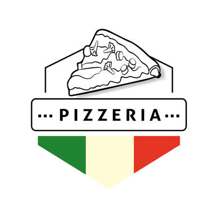 pizzeria label: Pizzeria label Illustration