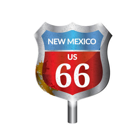 signboard: New mexico route signboard