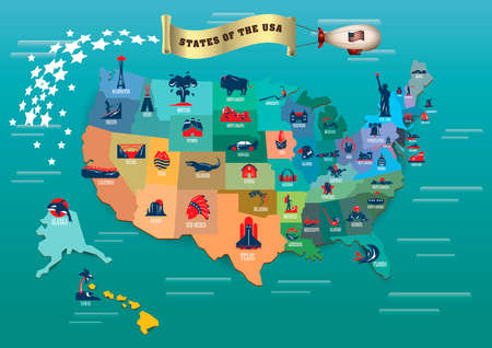 natural arch: States of usa Illustration