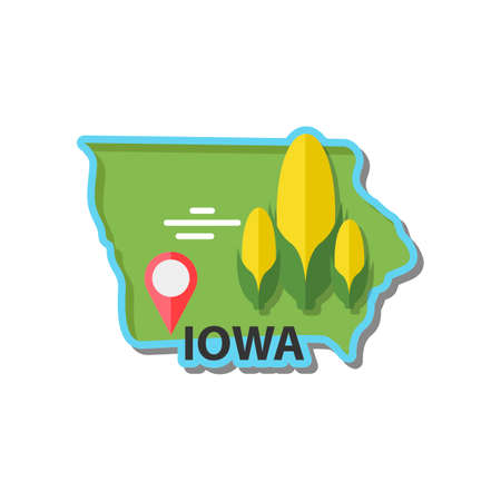 iowa: Map of iowa state