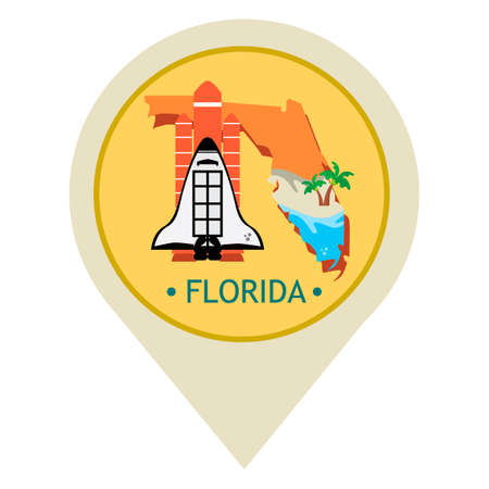 florida state: Map pointer with florida state