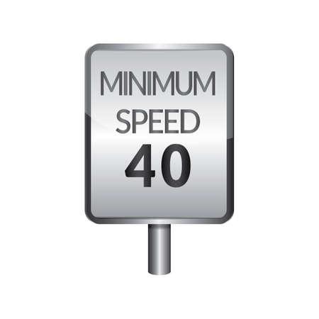40: Minimum speed 40 signboard