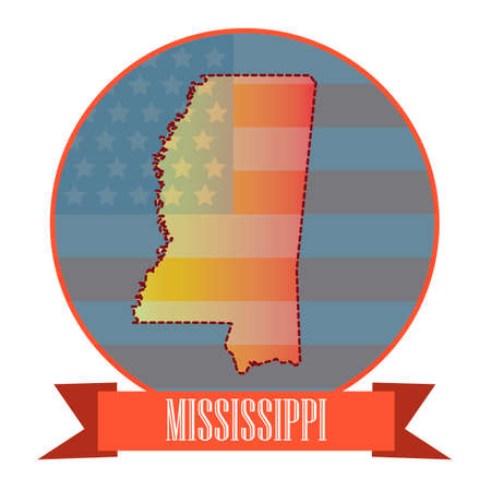 double exposure: Map of mississippi state