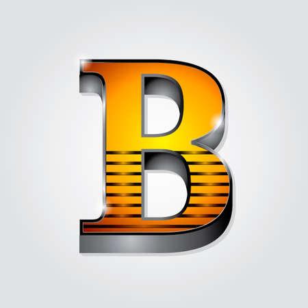 consonant: Alphabet B Illustration