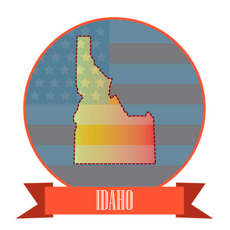 double exposure: Map of idaho state