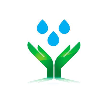 waterdrops: Hands saving waterdrops