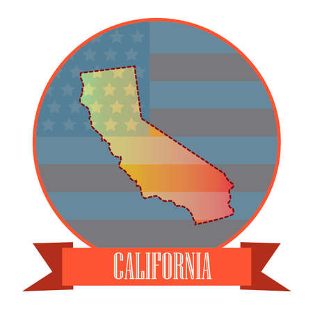 california state: Map of california state