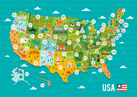 usa: Map of usa