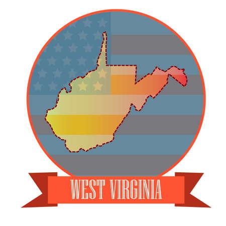 west virginia: Map of west virginia state