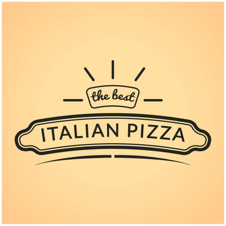 italian pizza: The best italian pizza label