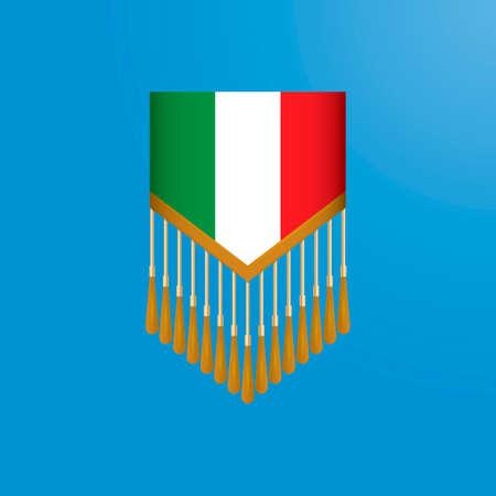 pennant: Italy flag pennant Illustration