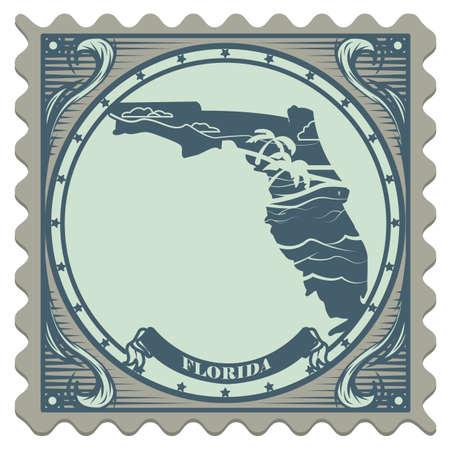 florida state: Florida state postage stamp