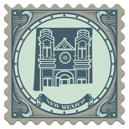 new mexico: New mexico state postage stamp Illustration