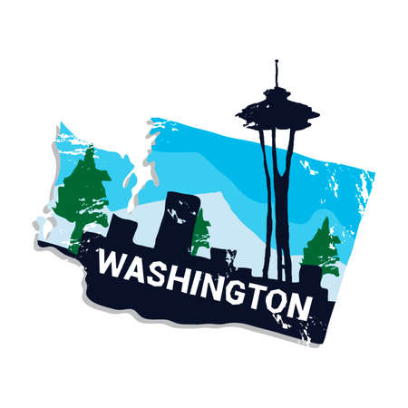 Washington state Stock Vector - 45404101