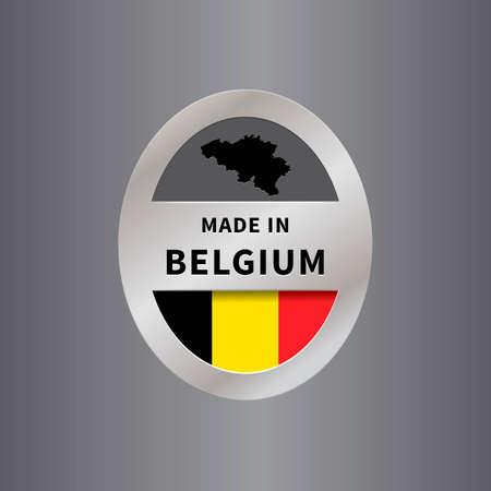 manufactured: Made in belgium label