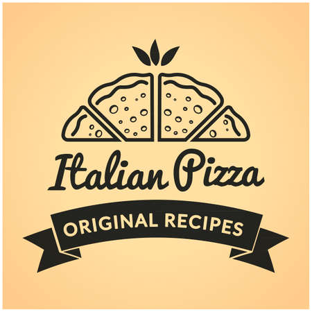 italian pizza: Italian pizza label