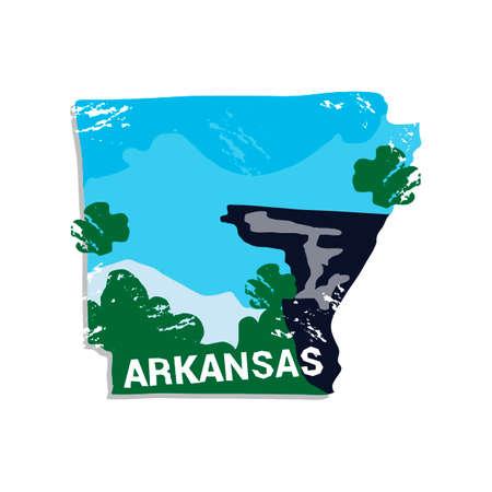 arkansas: Arkansas state Illustration